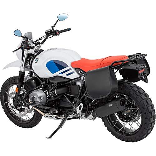 Stoverinck Motorrad Satteltaschen für Motorrad Taschen Ledersatteltaschenpaar Lady 16 Liter Lange Deckel, Unisex, Chopper/Cruiser, Ganzjährig, schwarz