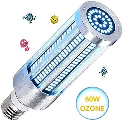 ALLRIER UV Sanitier 60W UV Germicidal Lamp E27 Ultraviolet UVC Light Corn Bulb Sterilization