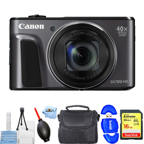 Canon PowerShot SX720 HS Digital Camera Black...