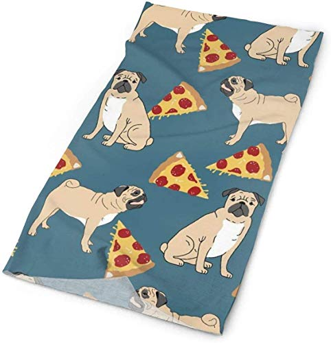 Voxpkrs Outdoor Multifunctional Pug Pugs Dogs Dog Pet Pets Pizza Bandana Headwear Sports Headband Magic Scarf Mens Womens