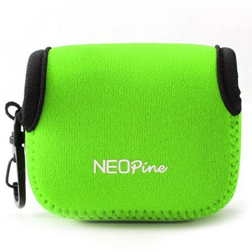 First2savvv QSL-AEE-06 green Neoprene Camera Case Bag for AEE S71 S70 S60