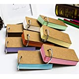 Fiyuer 8 sets Tarjetas De Palabras Estudio Study Cards Mini Cuadernos Blocs de Notas,Flash Card Kraft Paper Blank Colores Surtidos Bookmark Estudio Blocs de Notas Papelería