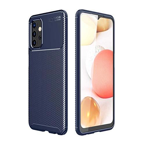 GOKEN Funda para Xiaomi Mi 11 Ultra, TPU Silicona Fibra de Carbono Protección Carcasa, Bumper Caso Case Cover con Shock- Absorción, Azul