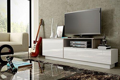 Jadella tv-meubel dressoir commode opknoping of staand hoogglans mat wit. Sonoma eiken. staand