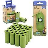 BPS 240/255 Bolsas de Caca Biodegradables para Perro con Dispensador Bolsas para excrementos de Perro Mascotas Animales Domésticos (255 Bolsas) BPS-5396 * 1