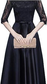 KDOI Bolso de noche para mujer, para fiestas, banquetes, con purpurina, para bodas, para llevar en el bolso de mano, con c...