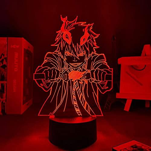 Luz LED 3d Anime Blue Exorcist Rin para decoración de dormitorio luz de noche decoración de niños dormitorio muchas habitaciones escritorio lámpara 3d bl & aring;Exorcis