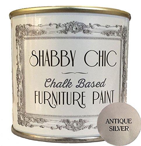 Plata antigua pintura de los muebles para crear un estilo shabby chic.