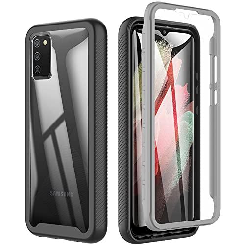 Coque pour Samsung A02s,Coque Samsung a02s Etui Antichoc avec Protège-écran Housse 360 degré Integrale Protection Transparent Bumper Coque Samsung Galaxy A02s