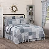 VHC Brands Sawyer Mill Blue Vintage Farmhouse Patchwork All-Season Twin Quilt, Reversible ...