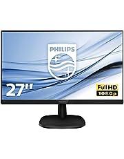 Philips 273V7QJAB - 27 Inch FHD Monitor, Speakers, Smart Image, Narrow Border, LowBlue mode (1920 x 1080 @ 75 Hz, 250 cd/m², 4ms, IPS, HDMI/VGA/DVI)