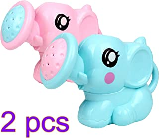 Toyvian Water Squirt Baby Bath Toy Elephant Spray Water Pump Bathtub Toys 2pcs (Random Color)