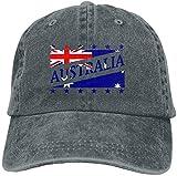 'N/A' Unisex adulto bandera de Australia fútbol Copa del Mundo lavado denim algodón deporte al aire libre...