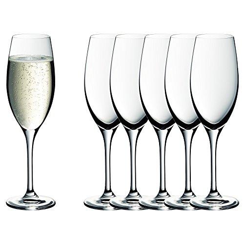 WMF Easy Plus Champagner-/ Sektgläser-Set 6-teilig, 250ml, Kristallglas, spülmaschinenfest, transparent