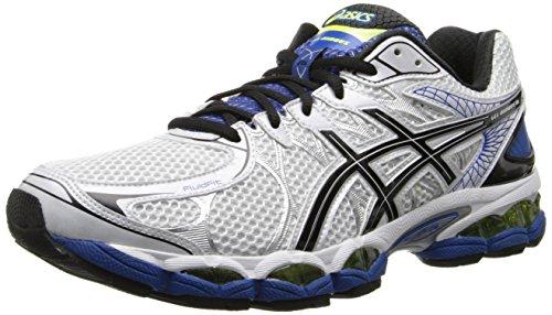ASICS Men's Gel-Nimbus 16 Running Shoe,White/Black/Royal,8 M US