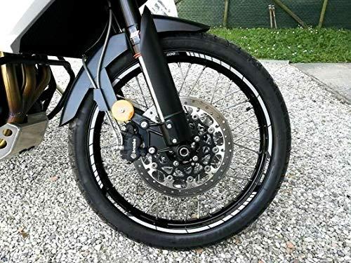 Tiras adhesivas 17-21 para llantas de moto compatibles con Triumph Tiger 800...