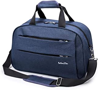Men Travel H bag Weekend Carry On Luggage Bags Duffel Shoulder Bag Luggage Overnight Bags Large Blue