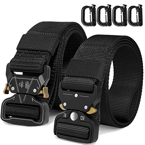 Find Discount WONDAY Tactical Belt, Heavy Duty Belt 2 Pack 1.5 Inch Adjustable Military Style Nylon ...
