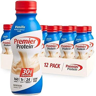Premier Protein Shake, Vanilla, 30g Protein, 1g Sugar, 24 Vitamins & Minerals, Nutrients to Support Immune Health 11.5 fl oz, 12 Pack from Premier Nutrition