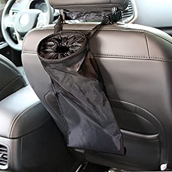 Ipely Universal Car Vehicle Back Seat Headrest Trash Garbage Can