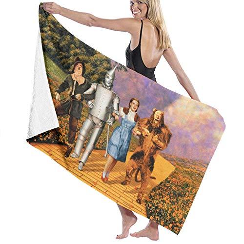 Wizard Oz Toalla de playa cómoda fibra superfina ligera y rápida absorción de agua de gran tamaño toalla de baño familiar baño piscina toalla playa 80 x 130 cm