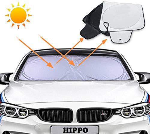Parasoles para Coche,Parasol Coche Parabrisas Protector Plegable con Gran Pantalla Anti UV Rayos,Tamaño Grande Flexible y Apto para todos Coches, SUV o Furgonetas