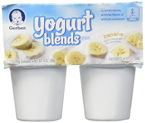 Gerber 2nd Foods Yogurt Blends - Banana - 3.5 oz - 4 pk