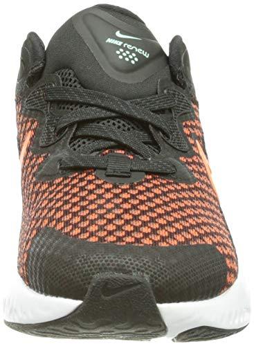 Nike Renew Run 2 (GS), Zapatillas para Correr, Black Hyper Crimson Chile Red Green Glow White Dk Smoke Grey, 39 EU