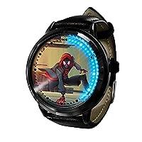 アニメウォッチ スパイダーマン ア時計LEDタッチスクリーン防水デジタルライト時計腕時計ユニセックスコスプレギフト新しい腕時計子供のための最高のギフト