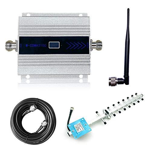 KKmoon Handy Signalverstärker Verstärker Repeater LCD-Digitalanzeige DCS1800MHz Handy-Signalverstärkerset Handynetz Signalempfang Verstärkung mit leistungsstarke Außenantenne Montagezubehör - Silber