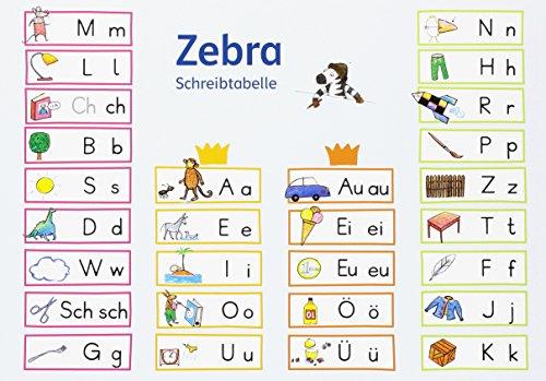 Zebra 1: Schreibtabelle (VE 10) Klasse 1 (Zebra. Ausgabe ab 2007)