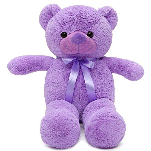 VERCART Grand Nounours Ours en Peluche XXL Teddy Bear Jouet Oursons Douce Cadeaux pour Bébé Enfant Ado Fille Garçon Lavande 60cm