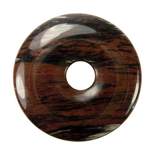 Lebensquelle Plus Mahagoni-Obsidian Edelstein Donut Ø 40 mm Anhänger