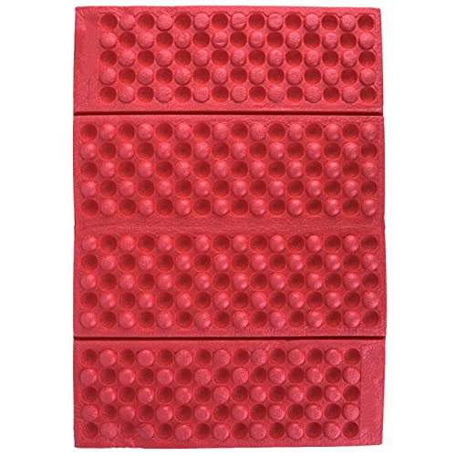 Alfombrilla plegable de espuma para sentarse, espuma plegable para exteriores, impermeable, cojín de jardín, cojín para asiento, para acampar, esterilla plegable portátil para acampar(Rojo + negro)