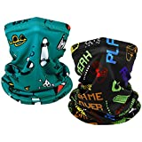 EXski 2 PCS Kids Bandana Face Mask, Neck Gaiter Face Cover Scarf Summer Breathable for Cycling Fishing Outdoors