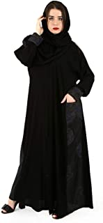 عباية كاجوال مع طبعة ازهار على الجوانب للنساء