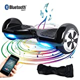 BEBK Elektro Scooter, 6.5' Hoverboard, Self Balance Scooter mit Bluetooth Lautsprecher, 2 * 250W Motor, LED Lights (schwarz)