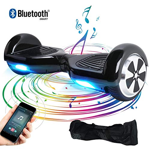 Windgoo Hoverboard, 6.5 Zoll Self Balance Scooter mit Bluetooth Lautsprecher, LED Lights Elektro Scooter E-Skateboard (Black)