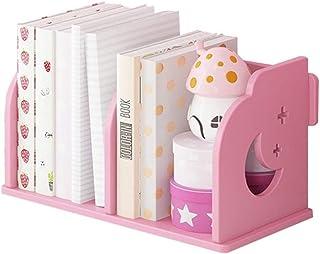 Estante de madera para libros de escritorio de 2 secciones, estantería de almacenamiento de CD, sujetalibros de clasificac...