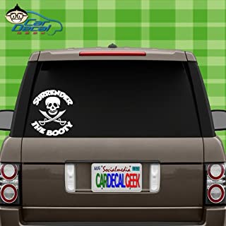 Pirates Surrender The Booty   Funny Vinyl Decal Sticker for Car Truck Window Laptop MacBook Wall Cooler Tumbler   Die-Cut/No Background   Multiple Sizes and Colors, 8-Inch, Black