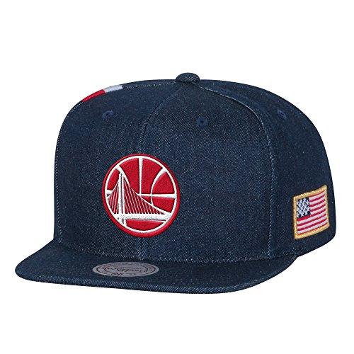 Mitchell & Ness Golden State Warriors USA Stars & Stripes Denim Snapback