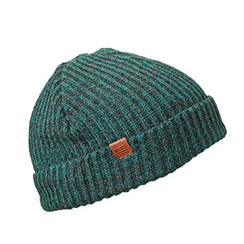 Trawler-Beaniemütze von MB, städtische Wollmütze in 4 warmen Farben Gr. One size, Dark-green/black-melange