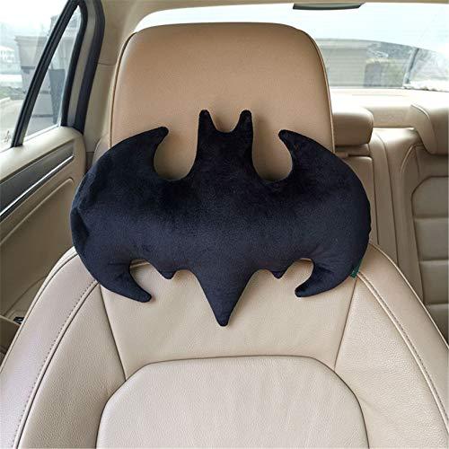 KURAZL - Almohada para el cuello de Batman, diseño creativo de peluche, decoración de muebles de coche, cojín de espalda súper suave para niños y adultos, regalo de cumpleaños de Halloween, Schwarz, M