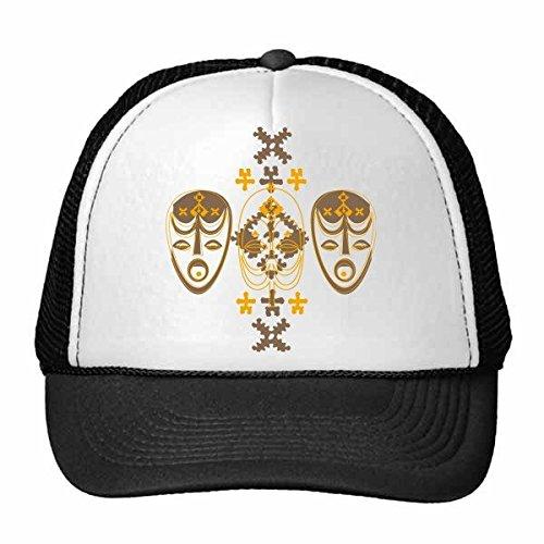 DIYthinker Middeleeuwen Cultuur Religie Rood Masker Art Illustratie Patroon Trucker Hoed Baseball Cap Nylon Mesh Hoed Verstelbare Cap