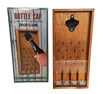 Tic Tac Toe Shot Glass Drinking Game Beer Bottle Opener Cap Game His & Hers Wine Cork & Beer Cap Shadow Box  BOTTLE CAP DROP