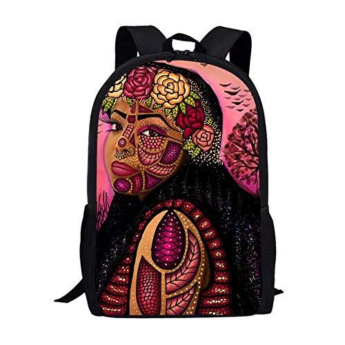 Borse da scuola colorate per ragazze della regina africana Regalo per bambini Studenti Zaini per libri esotici in stile arte etnica B
