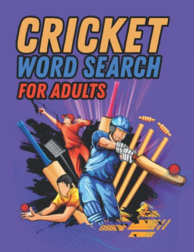 Cricket Word Search For Adults: Large Print Cricket Puzzle Book With Solutions