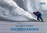 Snowboarden - ein Stueck Freiheit (Wandkalender 2022 DIN A2 quer): Snowboarden - das schoenste Hobby der Welt und seit 1998 auch olympische Disziplin. (Monatskalender, 14 Seiten )
