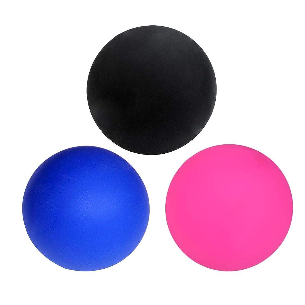 医療の収まるうんざりdailymall マッサージボール ラクロスボール トリガーポイント 筋膜リリース トレーニング ツボ押しグッズ 3個入