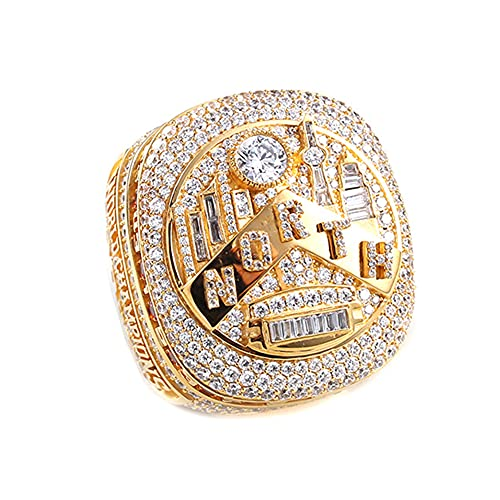 TYTY NBA 2019 Raptors Leonard MVP Championship Ring Anillos de Hombre, Championship Anillo de réplica Personalizado Anillos de Diamantes para Hombres,Without Box,10